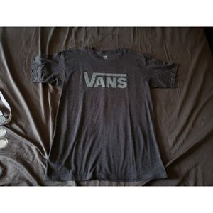 Men's Vans Light Grey on Dark Grey Logo T-Shirt